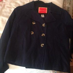 Navy pea coat
